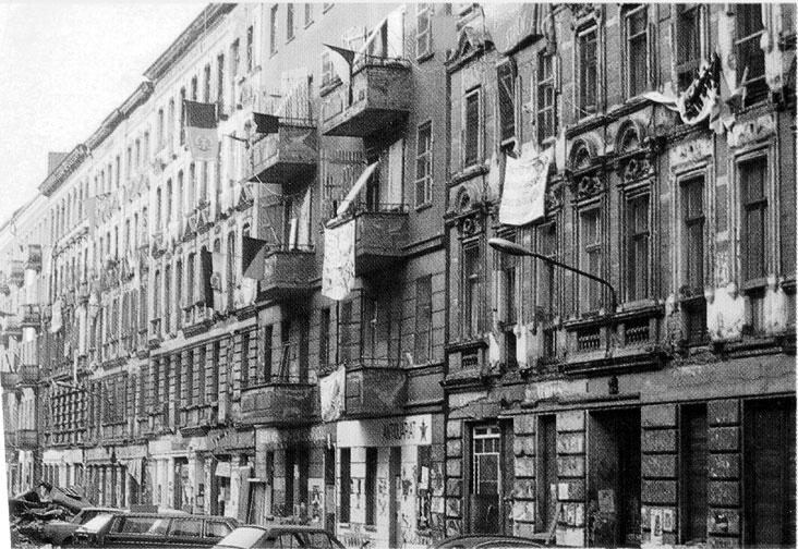 Die Mainzer Straße im Sommer 1990, Quelle: Zeitschrift telegraph