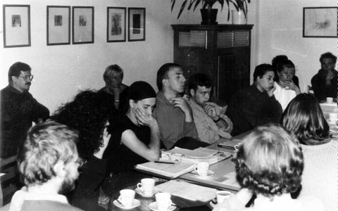 Vertragsverhandlungen am Runden Tisch Prenzlauer Berg 1991
