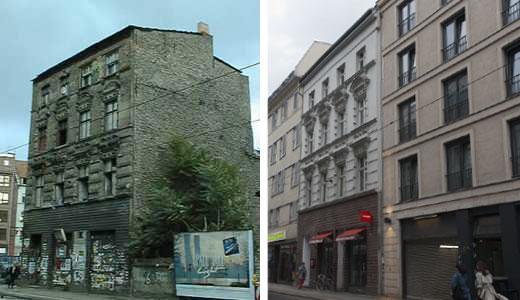 Rostenthaler Strasse 86 - Der Eimer 1990 und am 17.5.2012